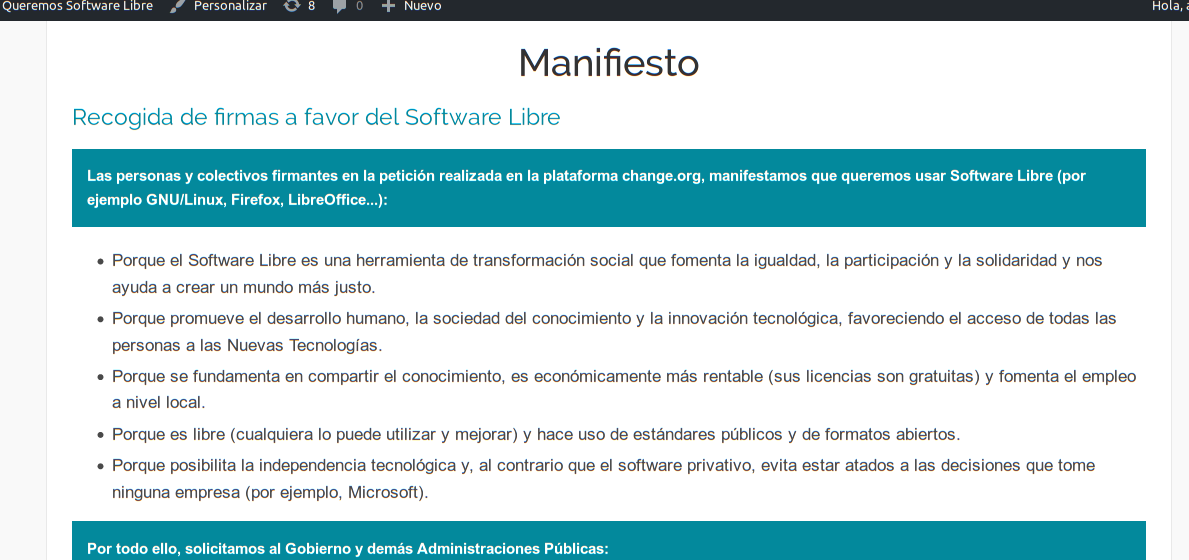 manifiesto software libre